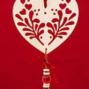 Wooden Heart Poster by Anne Gilbert