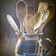 Wooden Spoons Poster by Jan Bickerton