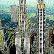 Woolworth Building New York City 20130427 Poster by Wingsdomain Art and Photography