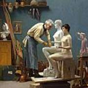 Working In Marble Poster by Jean-Leon Gerome