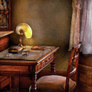 Writer - Desk Of An Inventor Poster by Mike Savad