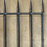 Wrought Iron Gate Poster by Brenda Bryant