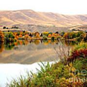 Yakima River Autumn Poster by Carol Groenen