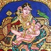 Yashoda Holding Gopala Poster by Jayashree