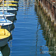 Yellow And Blue Sailboats From The Book My Ocean Poster by Artist and Photographer Laura Wrede