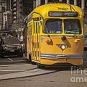 Yellow Vintage Streetcar San Francisco Poster by Colin and Linda McKie