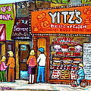 Yitzs Deli Toronto Restaurants Cafe Scenes Paintings Of Toronto Landmark City Scenes Carole Spandau  Poster by Carole Spandau