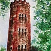 Yokahu Tower  Poster by Zaira Dzhaubaeva