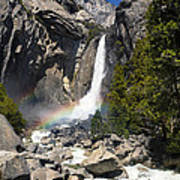 Yosemite Falls Rainbow Poster by Jane Rix