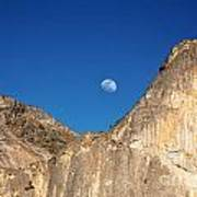 Yosemite Moonrise Poster by Jane Rix