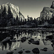 Yosemite National Park Valley View Reflection Poster by Scott McGuire