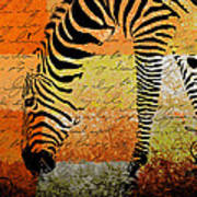 Zebra Art - Rng02t01 Poster by Variance Collections