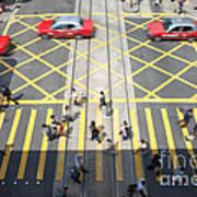 Zebra Crossing - Hong Kong Poster by Matteo Colombo