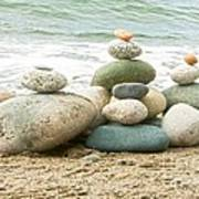 Zen Meditation Balance Poster by Artist and Photographer Laura Wrede