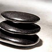 Zen Stones Poster by Olivier Le Queinec