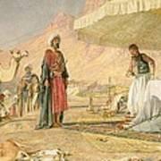 A Frank Encampment In The Desert Of Mount Sinai Poster by John Frederick Lewis