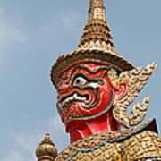 Demon Guardian Statues At Wat Phra Kaew Poster by Panyanon Hankhampa