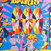 Girl Darts Poster by Beth Saffer