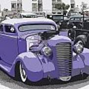 Hot Rod Purple Poster by Steve McKinzie