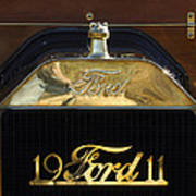 1911 Ford Model T Torpedo Hood Ornament Poster by Jill Reger