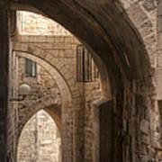 Alley In Jerusalem Poster by Noam Armonn