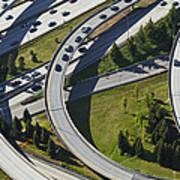 Busy Freeway Interchange Poster by Don Mason