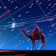 Christmas Star As Planetary Conjunction Poster by Detlev Van Ravenswaay