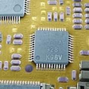Circuit Board Microchip, Sem Poster by Steve Gschmeissner
