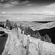 Country Mountain Road Through Glenaan Scenic Route Glenaan County Antrim Northern Ireland  Poster by Joe Fox