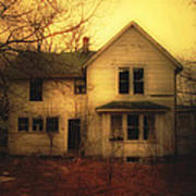 Creepy Abandoned House Poster by Jill Battaglia