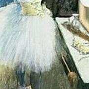 Dancer In Her Dressing Room Poster by Edgar Degas