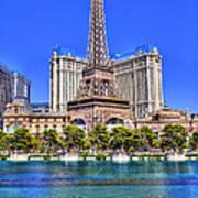 Eiffel Tower Las Vegas Poster by Nicholas  Grunas