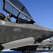F-35b Lightning II Variants Are Secured Poster by Stocktrek Images