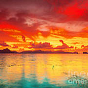 Fantasy Sunset Poster by MotHaiBaPhoto Prints