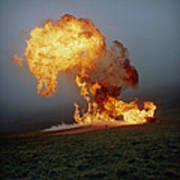 Fireball From Liquid Petroleum Gas Explosion Poster by Crown Copyrighthealth & Safety Laboratory