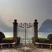 Gateway To The Lake Of Lugano Poster by Joana Kruse