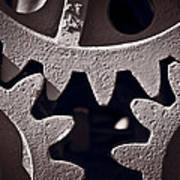 Gears Number 2 Poster by Steve Gadomski
