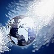 Globe With Fiber Optics Poster by Setsiri Silapasuwanchai