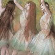 Green Dancers Poster by Edgar Degas