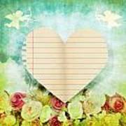 greeting card Valentine day Poster by Setsiri Silapasuwanchai