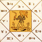 Horoscope Types, Engel, 1488 Poster by Science Source