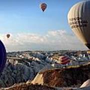 Hot Air Balloons Over Cappadocia Poster by RicardMN Photography
