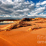 Lake Powell Morning Clouds Poster by Thomas R Fletcher