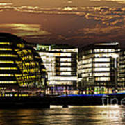 London City Hall At Night Poster by Elena Elisseeva