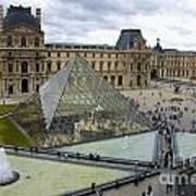 Louvre Museum. Paris Poster by Bernard Jaubert