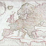 Map Of Europe Poster by Fototeca Storica Nazionale