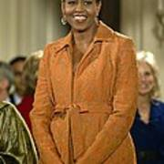 Michelle Obama At A Public Appearance Poster by Everett