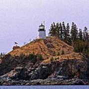 Owls Head Lighthouse Poster by Skip Willits