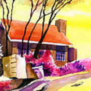 Red House Poster by Anil Nene