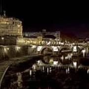 Rome Ponte San Angelo Poster by Joana Kruse